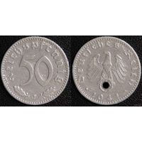 YS: Германия, Третий Рейх, 50 рейхспфеннигов 1941J, КМ# 96