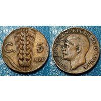 W: Италия 5 чентезимо 1922 (791)