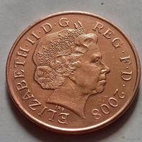 2 пенса, Великобритания 2008 г.