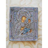 Икона Тихвинская Пресвятая Богородица. Бисер.