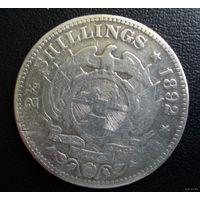 ZAR, Трансвааль (Южно-Африканская Республика). 2,5 шиллинга 1892 г. Пауль Крюгер.