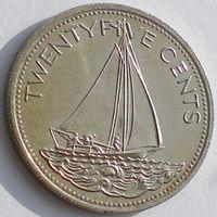 Багамы/ Багамские острова, 25 центов 2005 года, транспорт: корабль, состояние UNC, KM#63.2