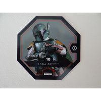 Жетон карточка Звездные войны 10 Боба Фетт