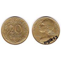 20 сантимов 1996 г. Франция.
