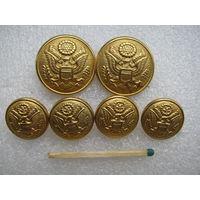 Пуговицы. Эмблема США. (тяж. металл). цена за 1 шт.