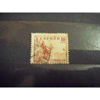 Распродажа с 5 копеек 1936 Марочка старенькой Испании рыцарь Изабелла Кастильская  (2-10)