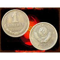СССР 1 Копейка 1981