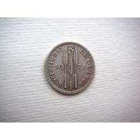Южная Родезия 3 пенса  (Георг V) 1934 (серебро)