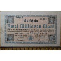 2 миллиона марок 1923г. Дрезден