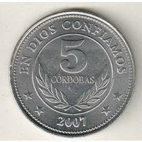 Никарагуа 5 кордоба 2007
