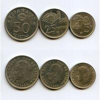 Испания НАБОР 3 монеты 1980 Чемпионат мира по футболу 1982