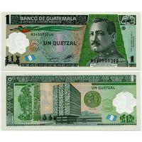 Гватемала. 1 кетцаль (образца 2012 года, P115c, UNC)