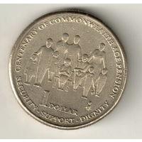 Австралия 1 доллар 2009 100 лет выплаты пенсий в странах Содружества