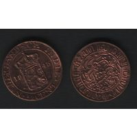 Индия(Голланская Ост-Индия) km314 1/2 цент 1945 год (f34)