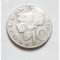 Австрия 10 шиллингов, 1958 Ag 5-4-5