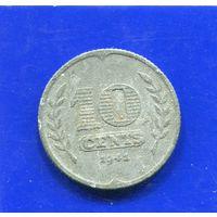 Нидерланды 10 центов 1941,оккупация,цинк