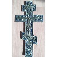 Крест распятие эмаль