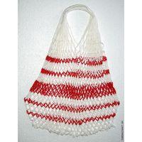 "Сетчатая сумка ""Бело-красная"""