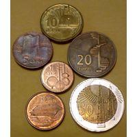 Азербайджан 1, 3, 5, 10, 20, 50 гяпик, набор 2006 из 6 обиходных монет