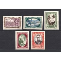 Латвия\21о\1932 Latvia 198B-202B (б\з, серия, CV $50, MH/MNH)