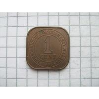 Британская Малайя 1 цент 1945г.