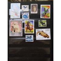 10 марок разных стран фауна (4-1)