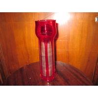Ваза рубиновое стекло,высота 22,5 см.