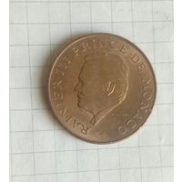 Монако  10 франков Ренье 3 1983г