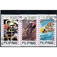 Филиппины. Ми-1596,1598,1602. Спорт. Бокс.Велоспорт.Плавание.Олимпийские игры. Лос-Анжелес. 1984.