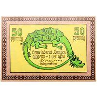 РАСПРОДАЖА!!! - ГЕРМАНИЯ Комунна ЛАНГЕНАЛЬТХАЙМ (БАВАРИЯ) 50 пфеннигов 1920 год - aUNC!