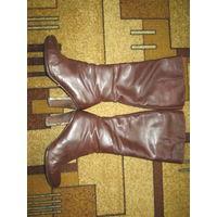 Сапоги Paolo Conte кожаные зимние женские 38-39 р