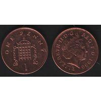 Великобритания _km986 1 пенни 1999 год (обращ) km986 магнит (h01)