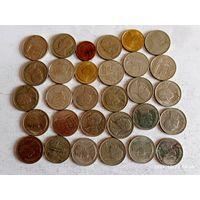 Монеты Тайвань с рубля.