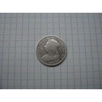 Великобритания 1 шиллинг 1893, серебро