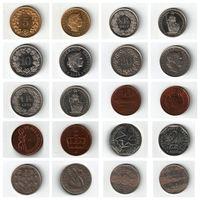 Набор монет (Швейцария, Исландия, Норвегия, Франция, Португалия) 10 штук одним лотом.