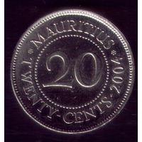 20 центов 2004 год Маврикий