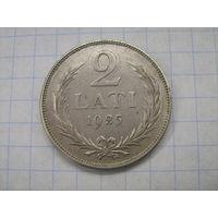 Латвия 2 лата 1925г.