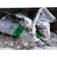 Польские МЕШКИ с МОНЕТАМИ МИРА на ВЕС ОПТОМ (монеты на вес) по 10 кг. МЕШКИ МОНЕТ из Европы.