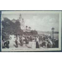 Монте-Карло. Театр Оперы. Старинная открытка. Чистая.