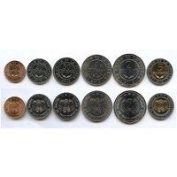 Боливия набор 6 монет 2012-2017 UNC