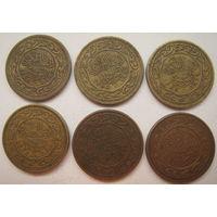 Тунис 20 миллимов 1960, 1983, 1993, 1997, 2007, 2011 гг. Цена за 1 шт. (g)
