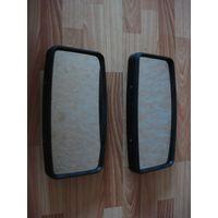 Пара огромного размера наружных зеркал заднего вида прямоугольных плоских для автобусов и грузовых автомобилей.