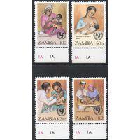 Детская медицина Замбия 1988 год чистая серия из 4-х марок