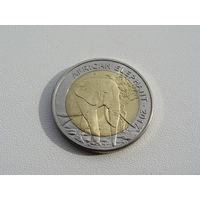 "Буркина Фасо. 50 франков 2017 год  UC#103  ""Африканский слон"""