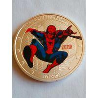 Сувенирный жетон 2$ человек паук 50 лет.1963-2013