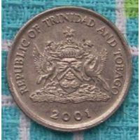 Тринидад и Тобаго 10 центов 2001 года. Инвестируй в монеты планеты к финалу ЧМ по футболу 2018!!!