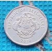 Сейшельские острова 5 рупий 2010 года. Пальма. Герб Сейшел.