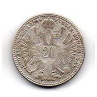 Королевства и Земли, представленные в Рейхсрате, а также Земли Венгерской Короны Святого Стефана 20 КРЕЙЦЕРОВ 1869