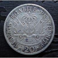 Гаити. 20 сантимов 1907 г