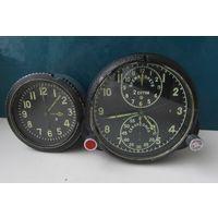 Часы авиационные АЧС-1 индекс B на ходу+часы АВР-М(не ходят),СССР,С РУБЛЯ